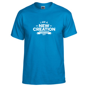 I Am A New Creation - Youth Tee - Blue